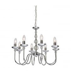 Galaxy Chrome 8 Light Ceiling Fitting