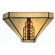 Viola Tiffany Single Light Wall Bracket