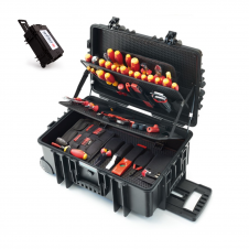Deluxe 115Pc Rolling Tool Case Electrical Set