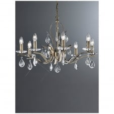 Willow 8 Light Bronze Crystal Chandelier
