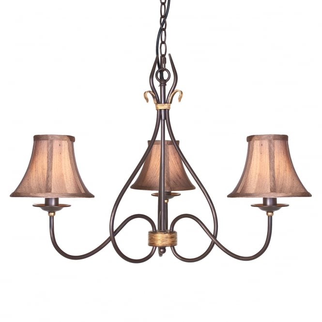Elstead Windermere Industrial Rustic Chandelier
