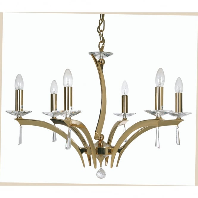Oaks Wroxton 6 Light Pendant Gold