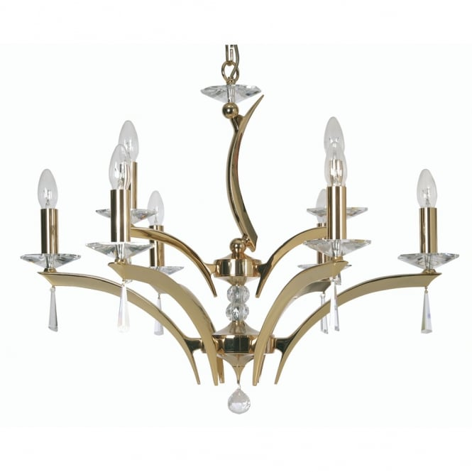 Oaks Wroxton 9 Light Pendant Gold