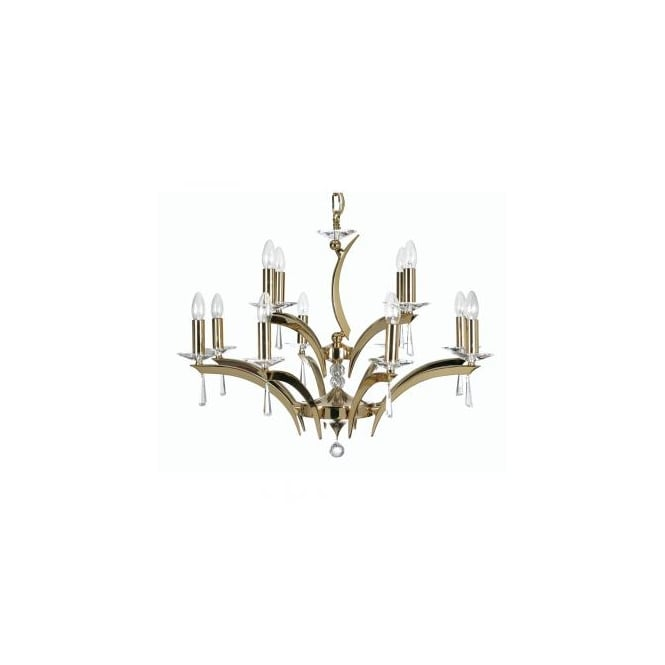 Pedret Wroxton Gold 12 Light Ceiling Fitting