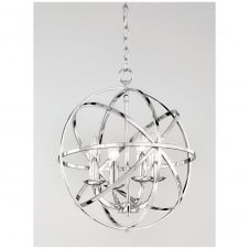 Zany Chrome 4 Light Ceiling Pendant Fitting